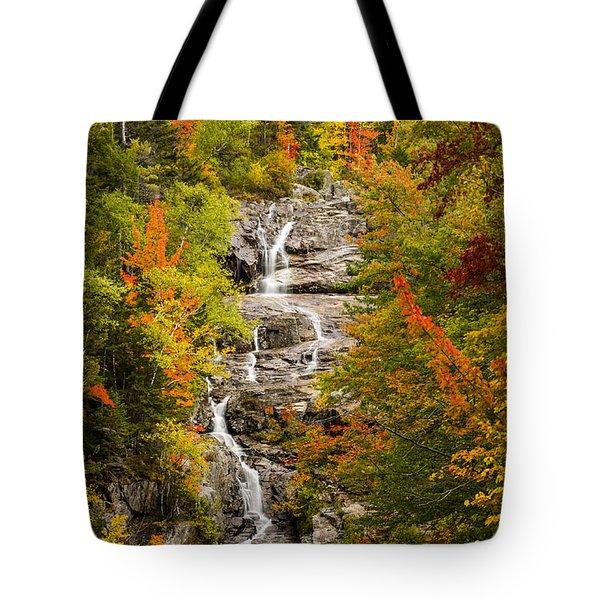 Silver Cascade Tote Bag