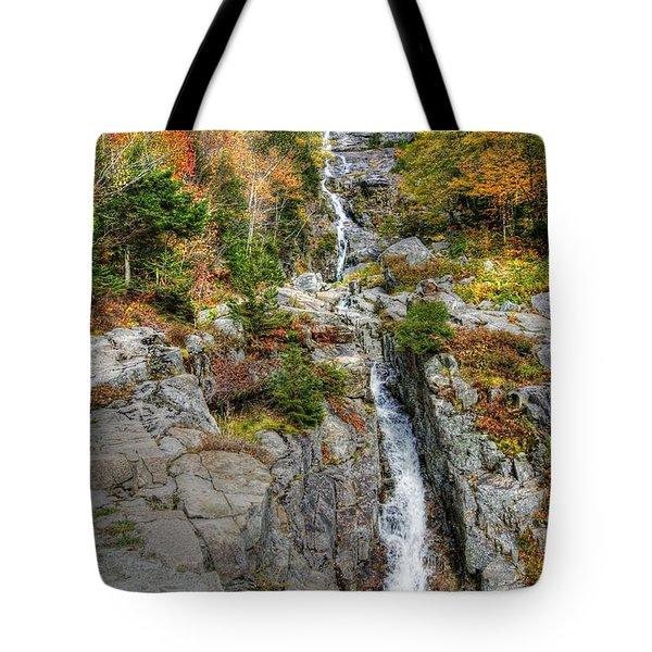 Silver Cascade Waterfall Tote Bag