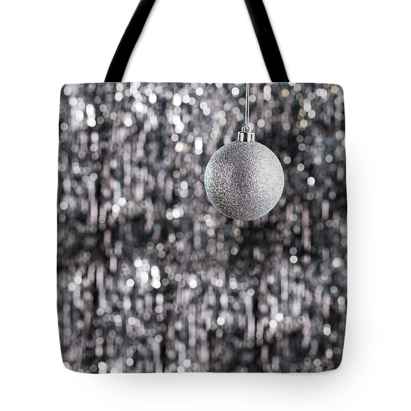 Tote Bag featuring the photograph Silver Christmas by Ulrich Schade