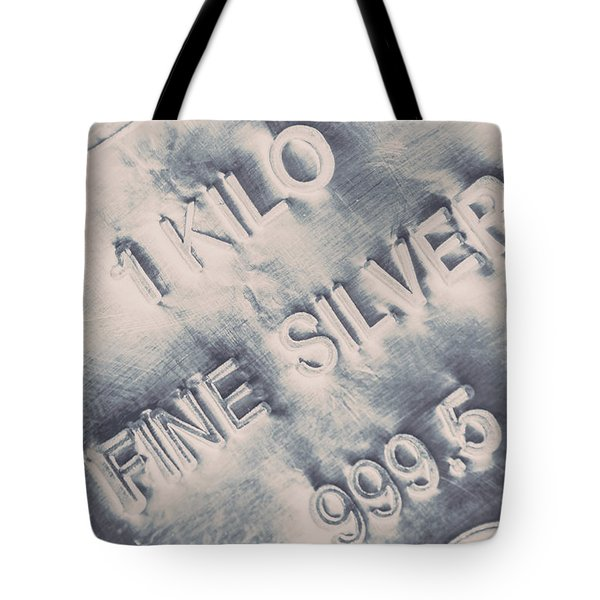 Silver Commodities Tote Bag