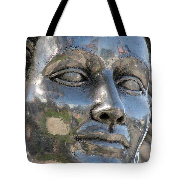 Silver Delores Del Rio Tote Bag