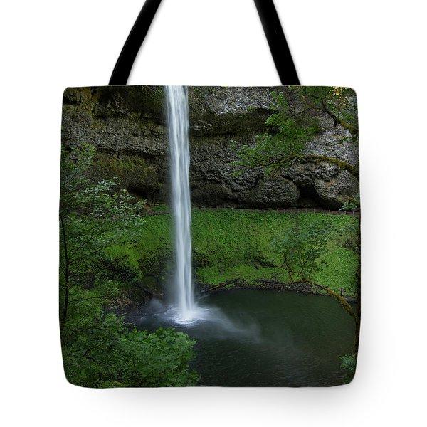 Silver Falls Silver Mist Tote Bag