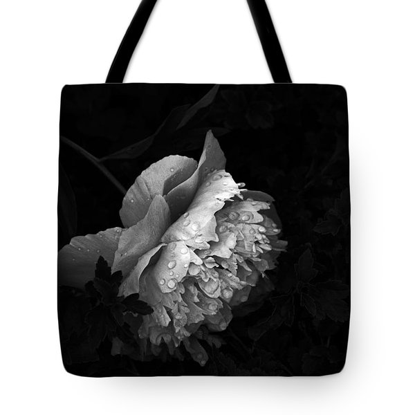 Silver Flower Tote Bag