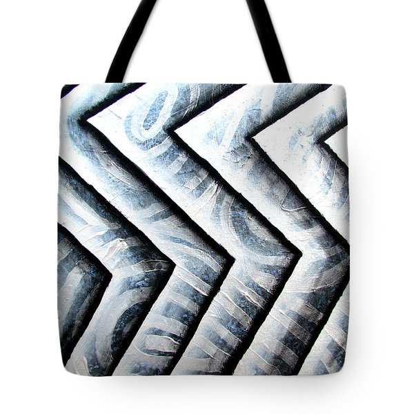 Silver Glass Waves Study 1  Tote Bag
