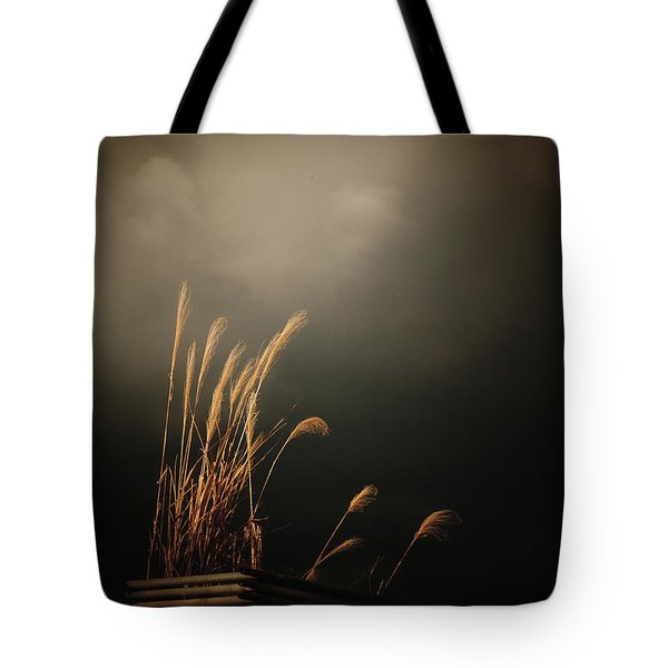 Silver Grass Tote Bag