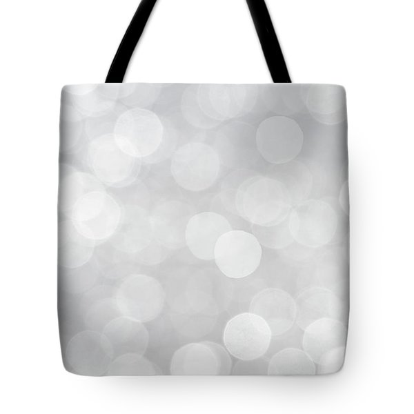 Silver Grey Bokeh Abstract Tote Bag