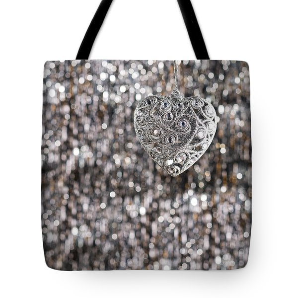 Tote Bag featuring the photograph Silver Heart by Ulrich Schade