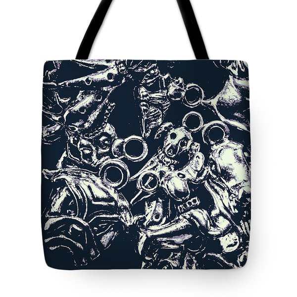 Silver Hounds Tote Bag