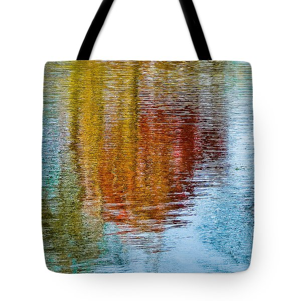 Silver Lake Autumn Reflections Tote Bag by Michael Bessler