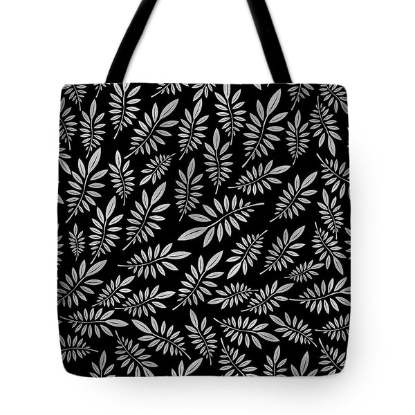 Silver Leaf Pattern 2 Tote Bag
