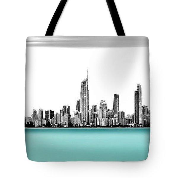 Silver Linings Panorama Tote Bag
