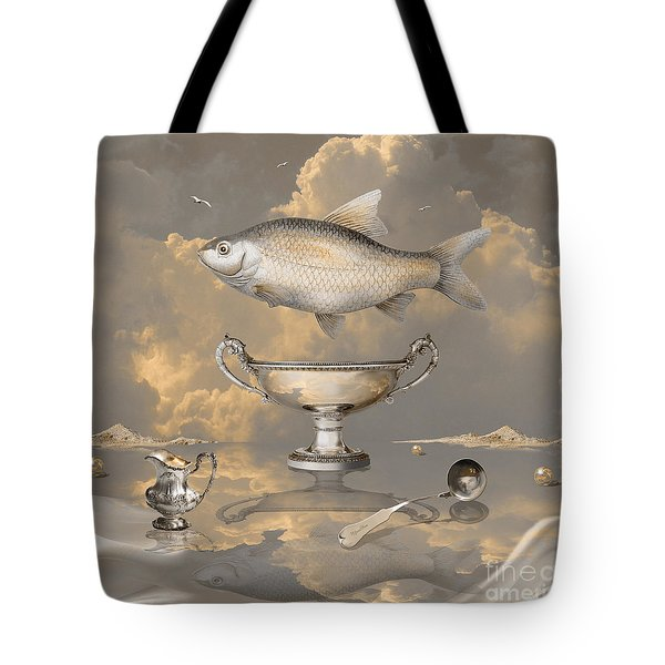 Silver Mood Tote Bag