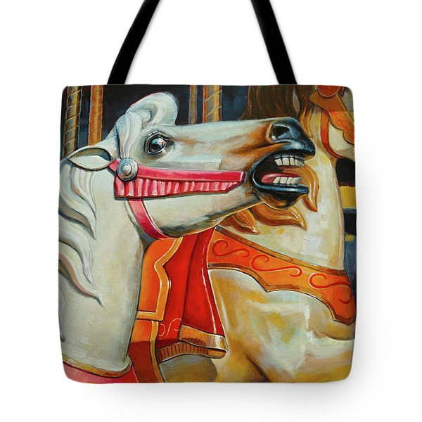 Silver Moon And Ginger Tote Bag
