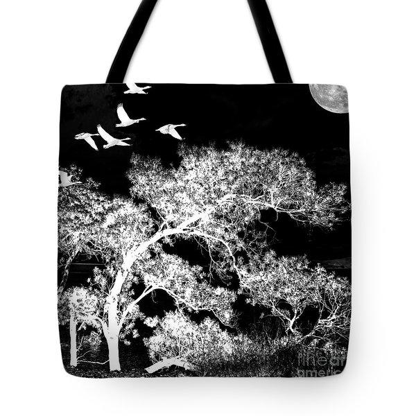 Silver Nights Tote Bag
