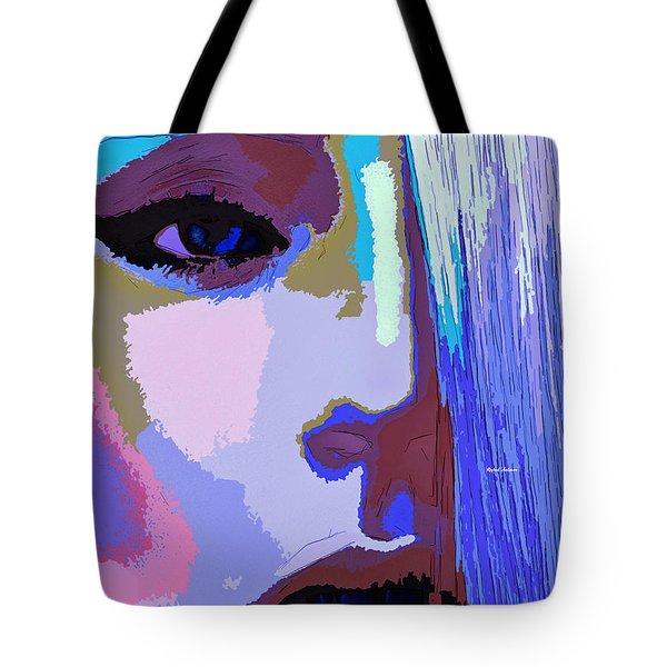 Tote Bag featuring the digital art Silver Queen by Rafael Salazar