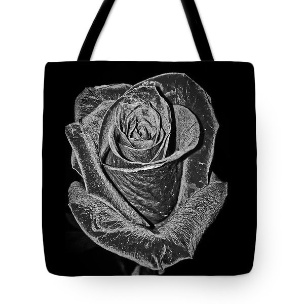 Silver Rose Tote Bag