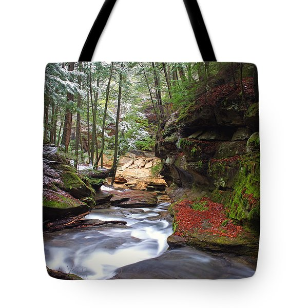 Silver Singing River Tote Bag by Jaki Miller