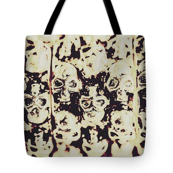 Silver Skull Art Tote Bag