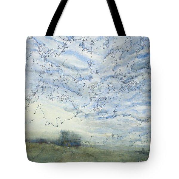 Silver Sky Tote Bag