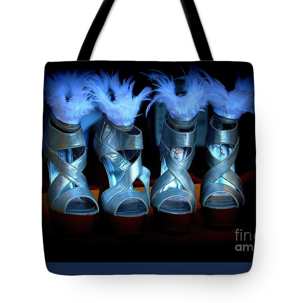 Silver Slippers Tote Bag