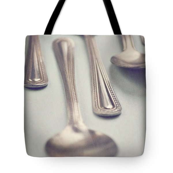 Tote Bag featuring the photograph Silver Spoons by Lyn Randle