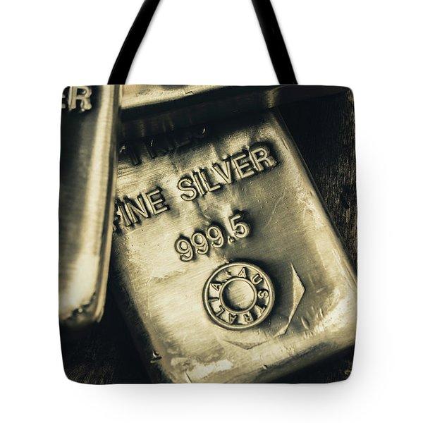 Silver Stackers Artwork Tote Bag
