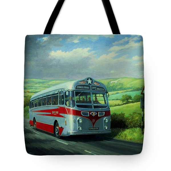 Silver Star Leyland Coach Tote Bag by Mike  Jeffries