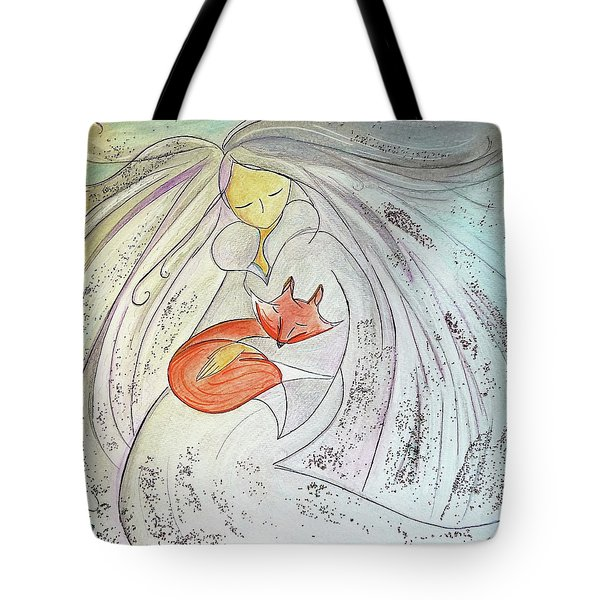 Tote Bag featuring the painting Silver Threads by Gioia Albano