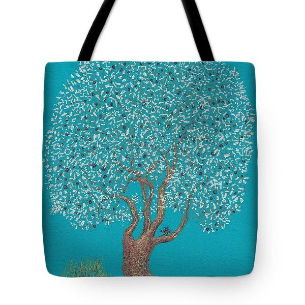 Silver Tree Tote Bag by Charles Cater