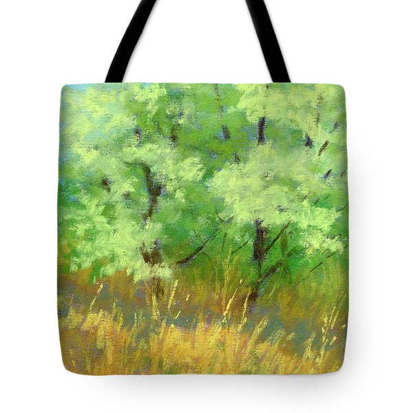 Silver Trees By The Path Tote Bag