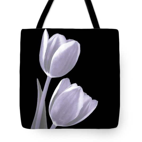 Silver Tulips Tote Bag