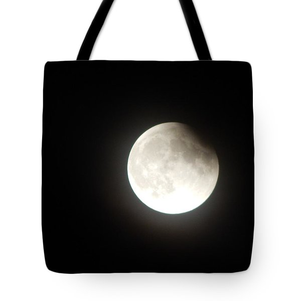Silver White Eclipse Tote Bag