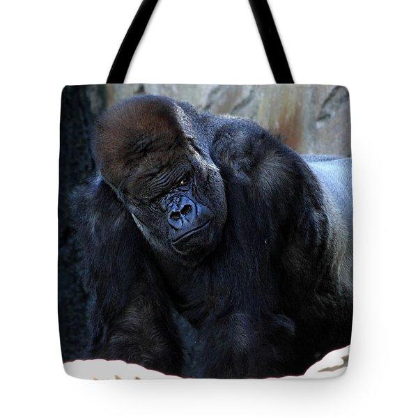 Silverback Kibabu Rules His Kingdom Tote Bag