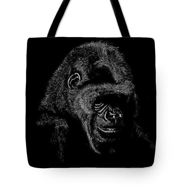Silverback Tote Bag by Lawrence Tripoli