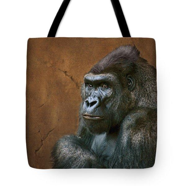 Silverback Stare - Gorilla Tote Bag
