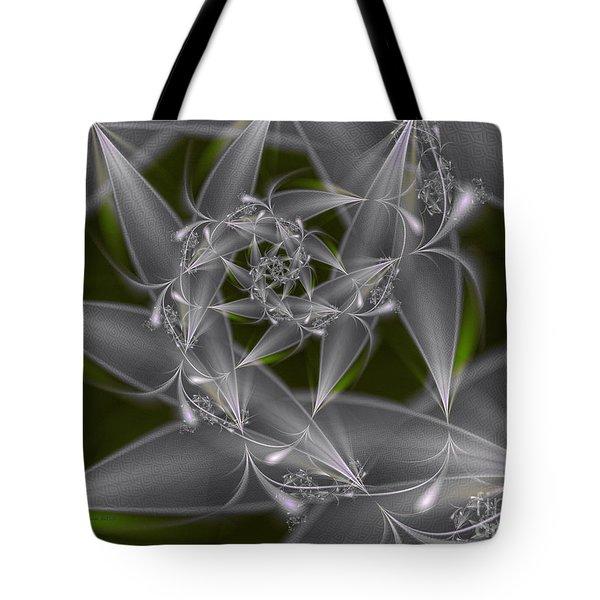Tote Bag featuring the digital art Silverleaves by Karin Kuhlmann