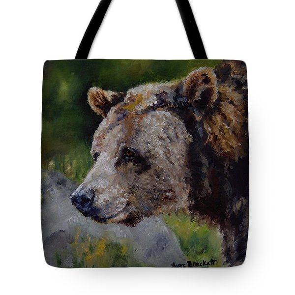 Silvertip Tote Bag by Lori Brackett