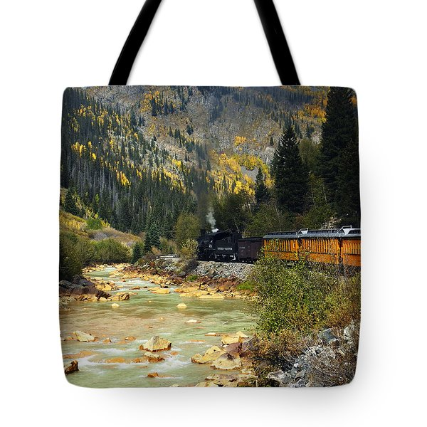 Tote Bag featuring the photograph Silverton Bound by Kurt Van Wagner