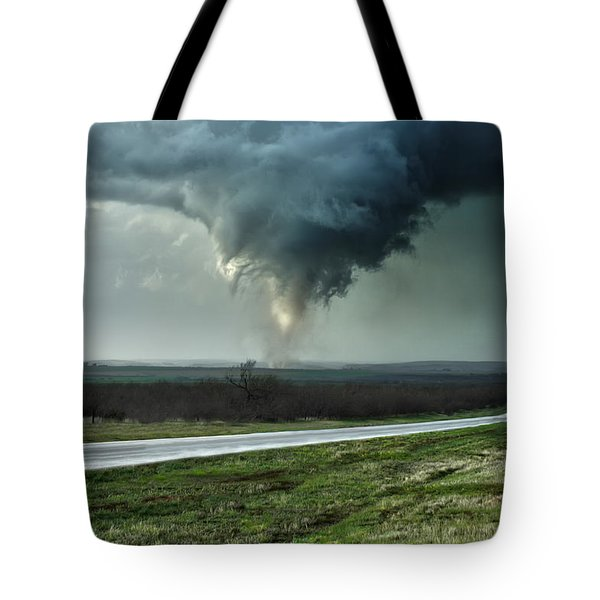 Silverton Texas Tornado 2 Tote Bag by James Menzies