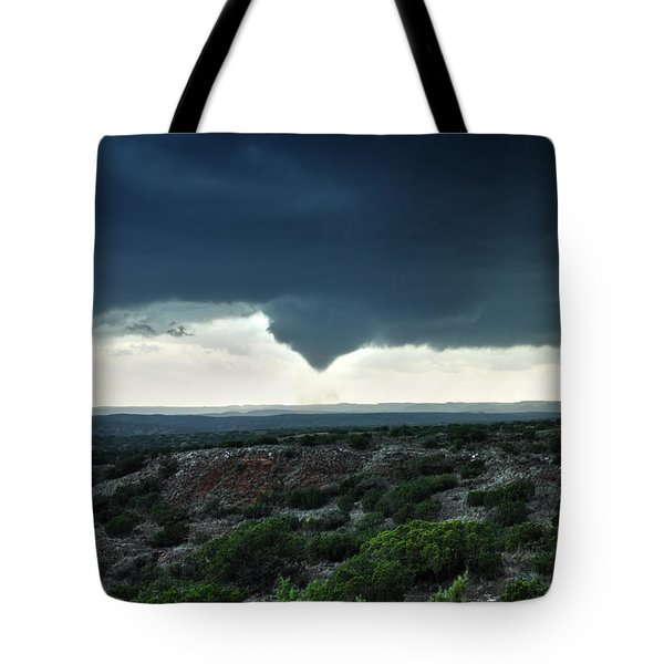 Silverton Texas Tornado Forms Tote Bag by James Menzies