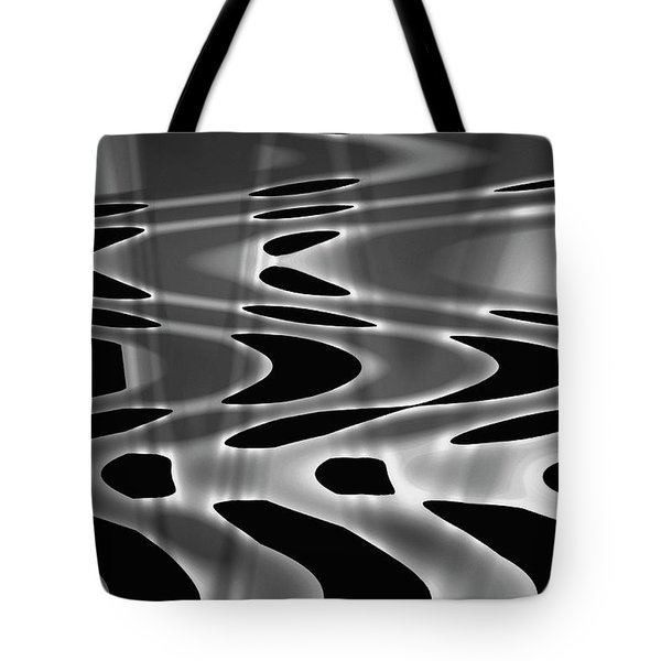 Silvery Abstraction Bw  Tote Bag