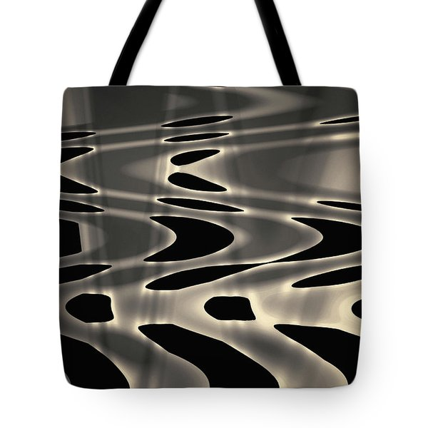 Silvery Abstraction Toned  Tote Bag