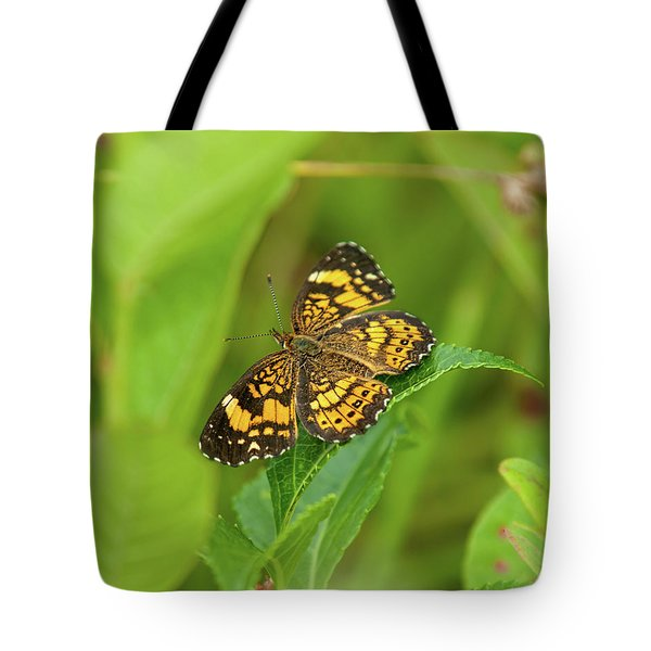 Silvery Checkerspot Butterfly Tote Bag