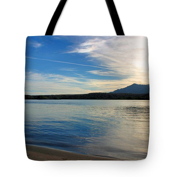 Silvery Reflection Tote Bag by Kristin Elmquist
