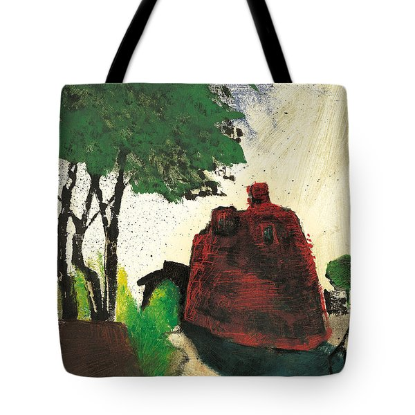 Tote Bag featuring the painting Simiane La Rotonde by Martin Stankewitz