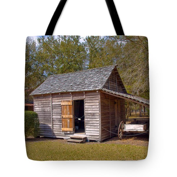 Simmons Cabin Built In 1873 In Orange County Florida Tote Bag by Allan  Hughes