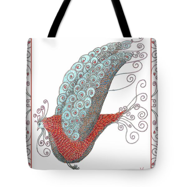Simon Lovey The Exotic Bird With Border Tote Bag