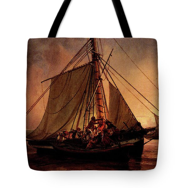 Simonsen Niels Arab Pirate Attack Tote Bag by Niels Simonsen