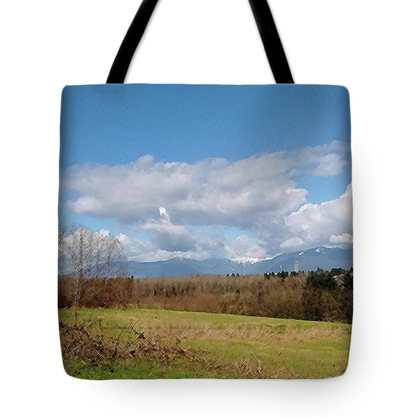 Tote Bag featuring the photograph Simple Landscape by Bill Thomson