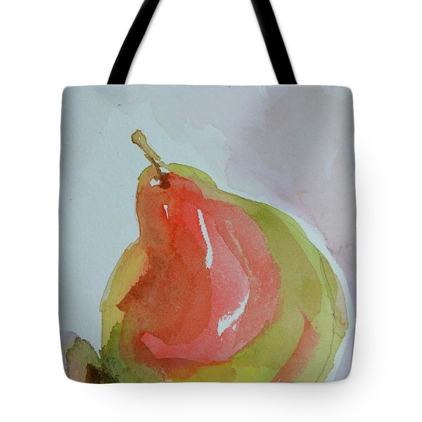Tote Bag featuring the painting Simple Pear by Beverley Harper Tinsley